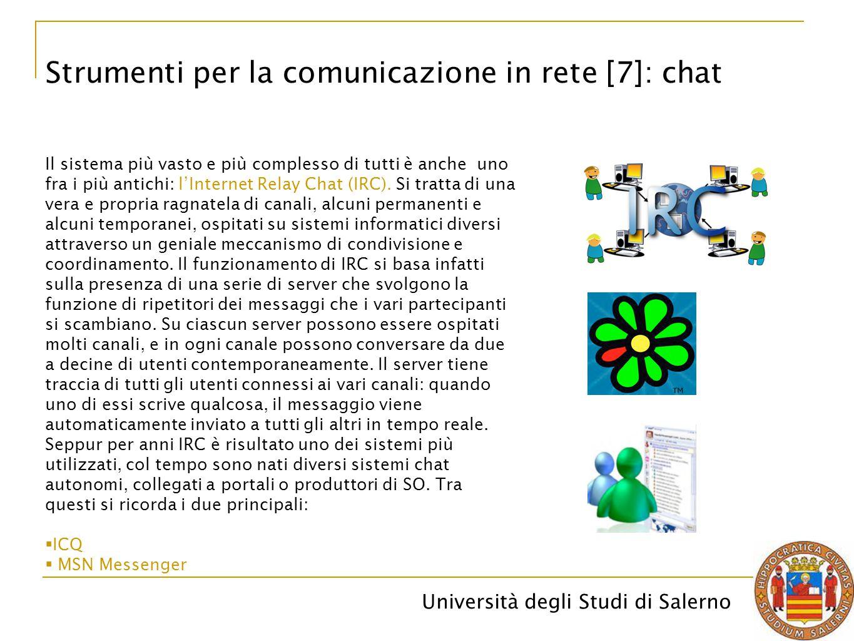 Strumenti per la comunicazione in rete [7]: chat